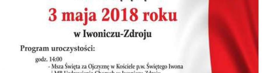 Zaproszenie na powiatowe obchody rocznicy Konstytucji 3 Maja