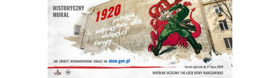 Historyczny Mural - 1920 polskie zwycięstwo dla wolności Europy